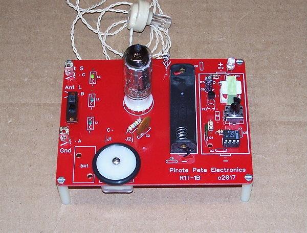 Details about RTG BUILT pcb 1-BATT school science fair vintage VACUUM TUBE  AM radio electronic